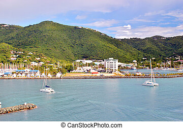 View of the beautiful island of Tortola in the British Virgin Islands