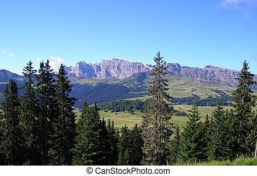 Landscape in Val Gardena