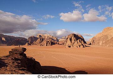 Landscape in Wadi Rum desert