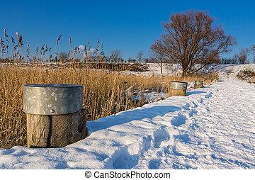 Landscape in winter time.