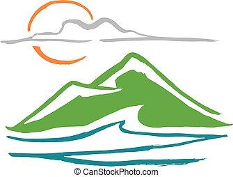 Landscape ink vector illustration
