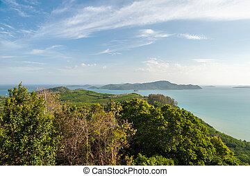 Landscape island in the sea