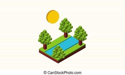 landscape isometric concept