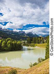 landscape lake in the Alps