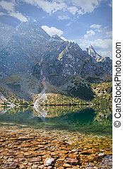 "Landscape. Lake ""Sea Eye"" in the Tatra mountains"