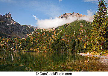 "Landscape. Lake ""Sea Eye"" in the Tatry mountains"
