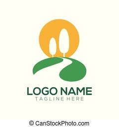 Landscape logo and icon design