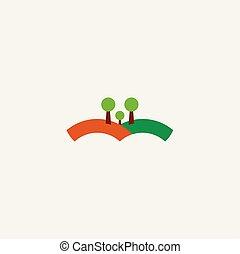 landscape logo icon illustration