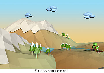 Landscape Low Poly background