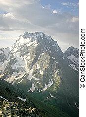 Landscape mountain peak in fine weather - Scenery of high...
