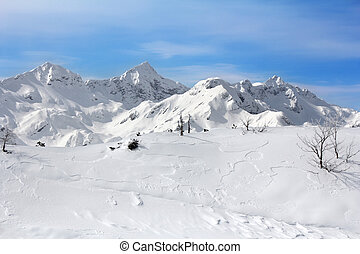 Mountains in winter - Landscape Mountains in winter at the ...