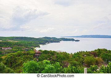 Landscape nature and an observation deck