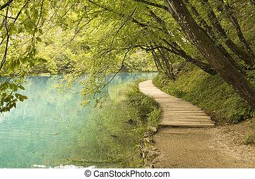 landscape nature park in Croatia - lakeside