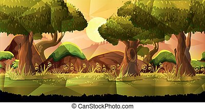 Landscape, nature vector background