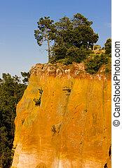 landscape near Roussillon, Provence, France