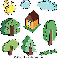 landscape objects