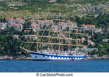 Landscape of a boat