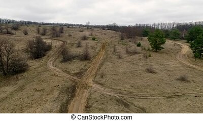 landscape of a countryside moto track