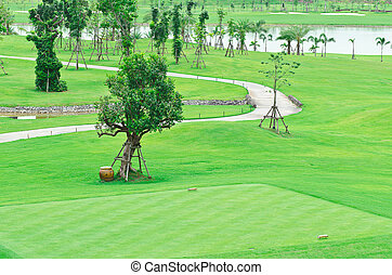 landscape of a golf court