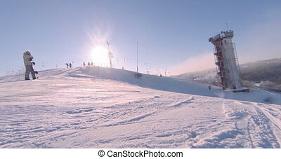 Landscape of a ski resort