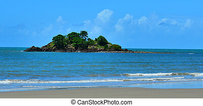 Landscape of a small island in Cape Tribulation Queensland Australia