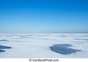 Landscape of a winter