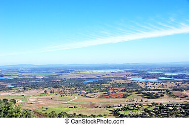 Landscape of Alqueva lake, near Monsaraz