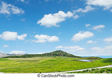 landscape of Aso area