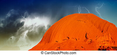 Landscape of Australian Outback in Northern Territory,...