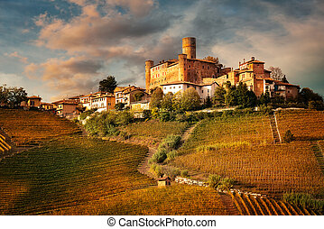Landscape of Barolo wine, Langhe zone