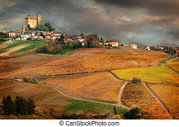 Landscape of Barolo wine region