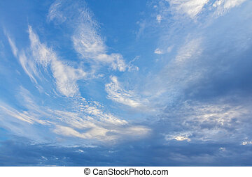 Landscape of Beautiful Clouds with blue sky