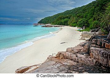 Landscape of beautiful tropical beach at Redang island, Malaysia