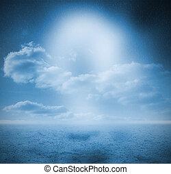 Landscape of blue sky