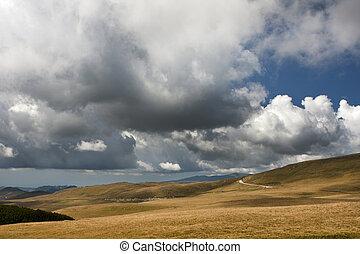 Landscape of Bucegi mountains in Romania