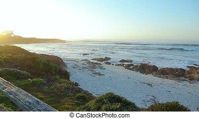 Landscape of California on the coastline at sunset - Blue...