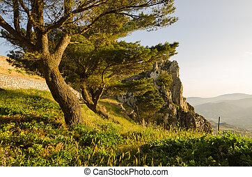 Landscape of Caltabellotta, Sicily, Italy