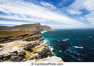landscape of cape of good hope, south africa