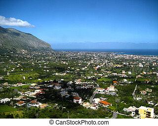 Landscape of Carini, Sicily