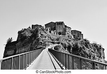 Landscape of Civita di Bagnoregio -Italy -