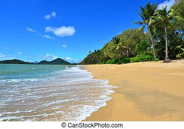 Landscape of Clifton beach near Cairns Queensland Australia...