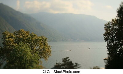 Landscape of Como Lake