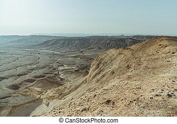 Landscape of desert near the dead sea in Israel.