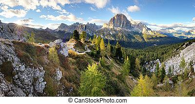 Landscape of Dolomites Mountain, Italy alp