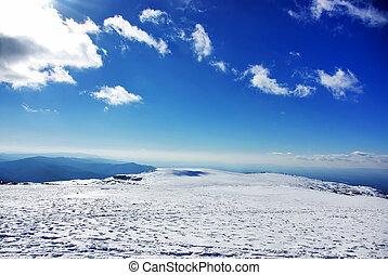 Landscape of Estrela mountain on Winter