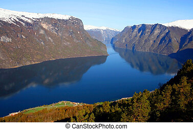 Landscape of fjord in Norway