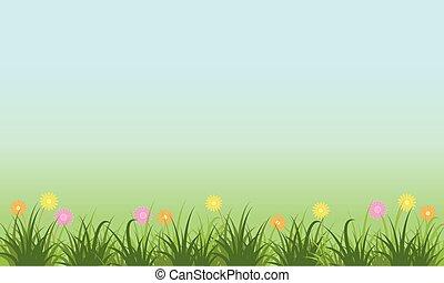 Landscape of flower on the garden
