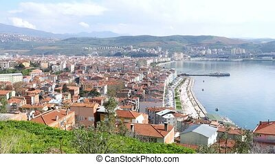 """landscape of Gemlik city, Bursa, Turkey"""