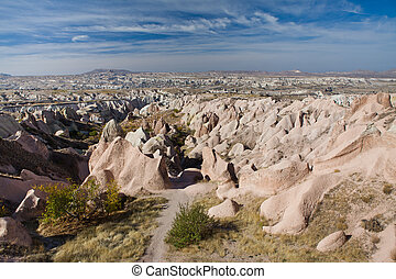 Landscape of Goreme National Park, Cappadocia