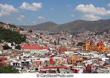 landscape of Guanajuato in Mexico